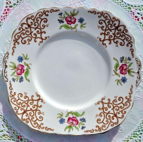 Colclough Rose Trellis Vintage China Cake Plate c.1940s