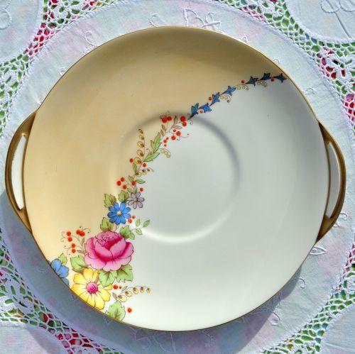 Royal Doulton Rosalee Art Deco Cake Plate c.1936