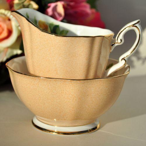 Royal Standard Wild Rose Fine China Milk Jug and Sugar Bowl