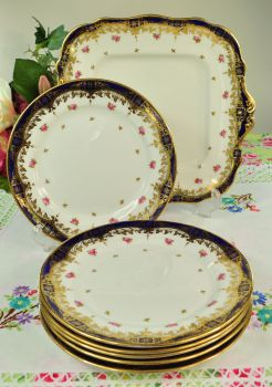 Antique Paragon Star China Cake or Sandwich Serving Set c.1913+