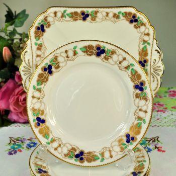 Shelley Art Deco Cake Plates Serving Set c.1925+