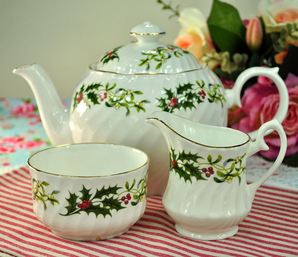 Royal Kendal Festive Teapot, Milk Jug and Sugar Bowl Set