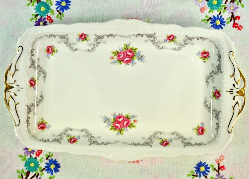 Royal Albert Tranquillity Vintage China Sandwich Tray c.1969