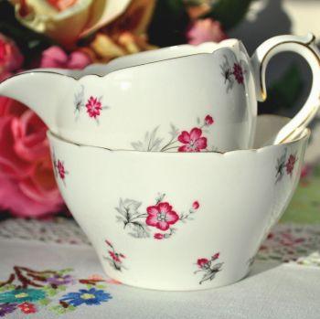 Shelley Charm Vintage China Milk Jug and Sugar Bowl c.1930s