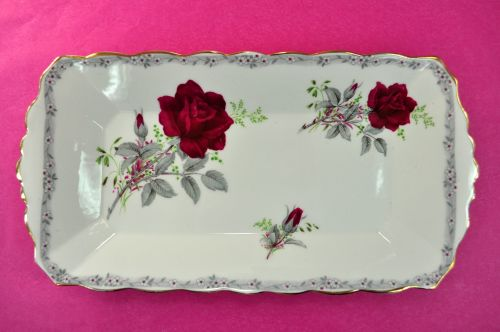 Royal Stafford Roses To Remember Sandwich Tray