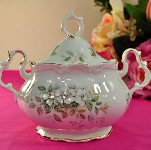 Royal Albert Haworth Vintage Bone China Lidded Sugar Bowl