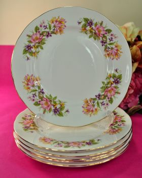 Colclough Wayside Hedgerow Pattern 20cm Plates Set