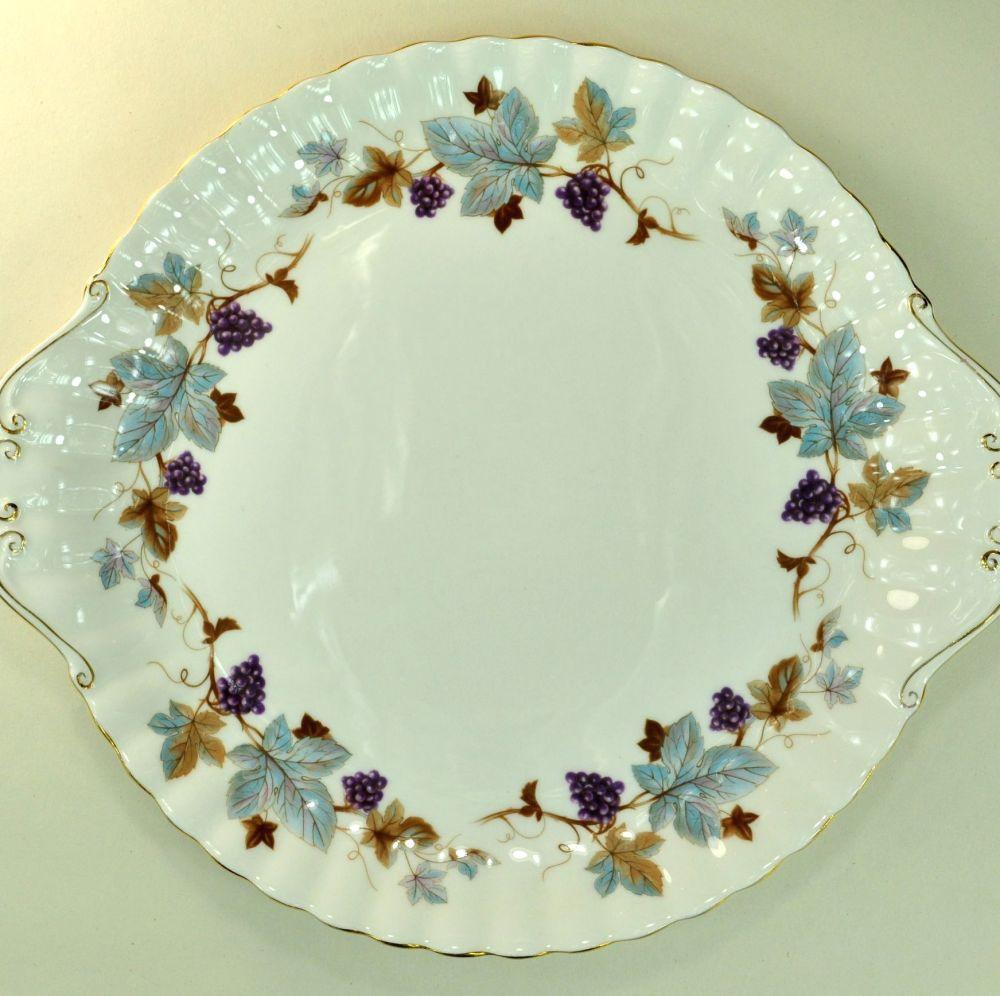 Royal Albert Lorraine Vintage China Cake Plate c.1960s