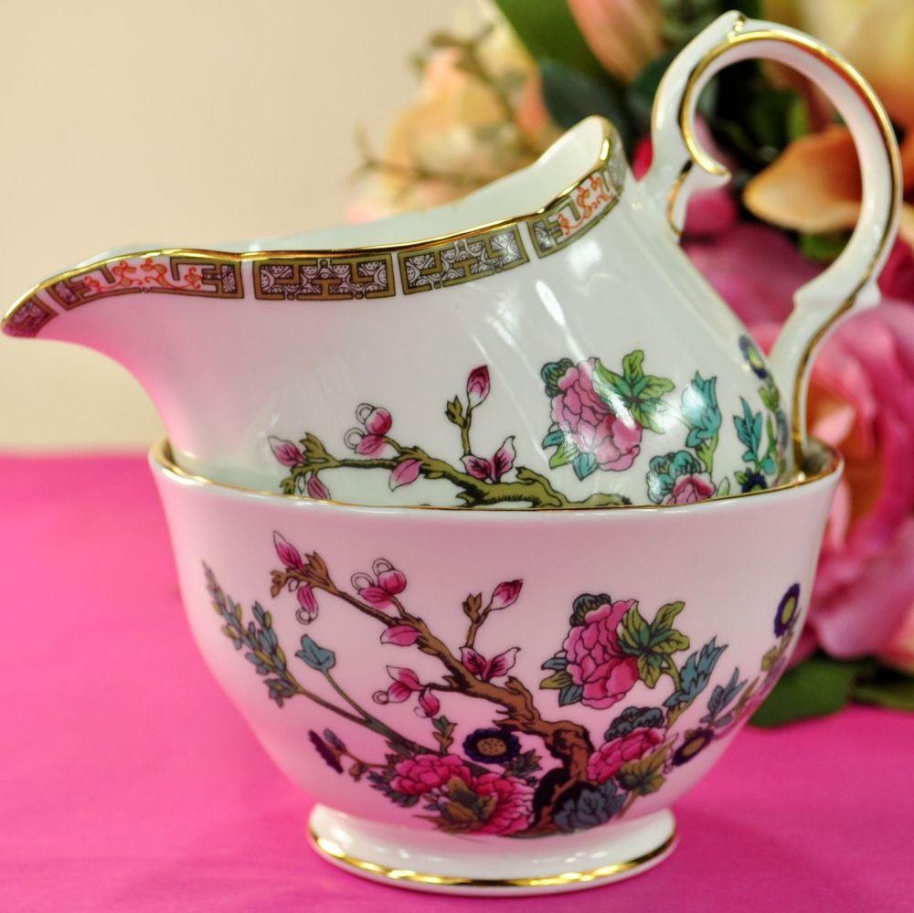 Duchess Indian Tree Vintage Bone China Large Milk Jug & Sugar Bowl