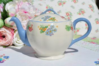 Grindley Lilac Pattern 2 Pint Vintage Teapot c.1940s