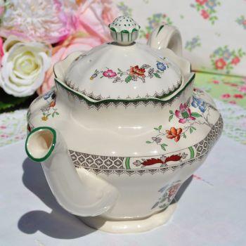 Spode Chinese Rose Pattern Large Vintage Teapot c.1960s