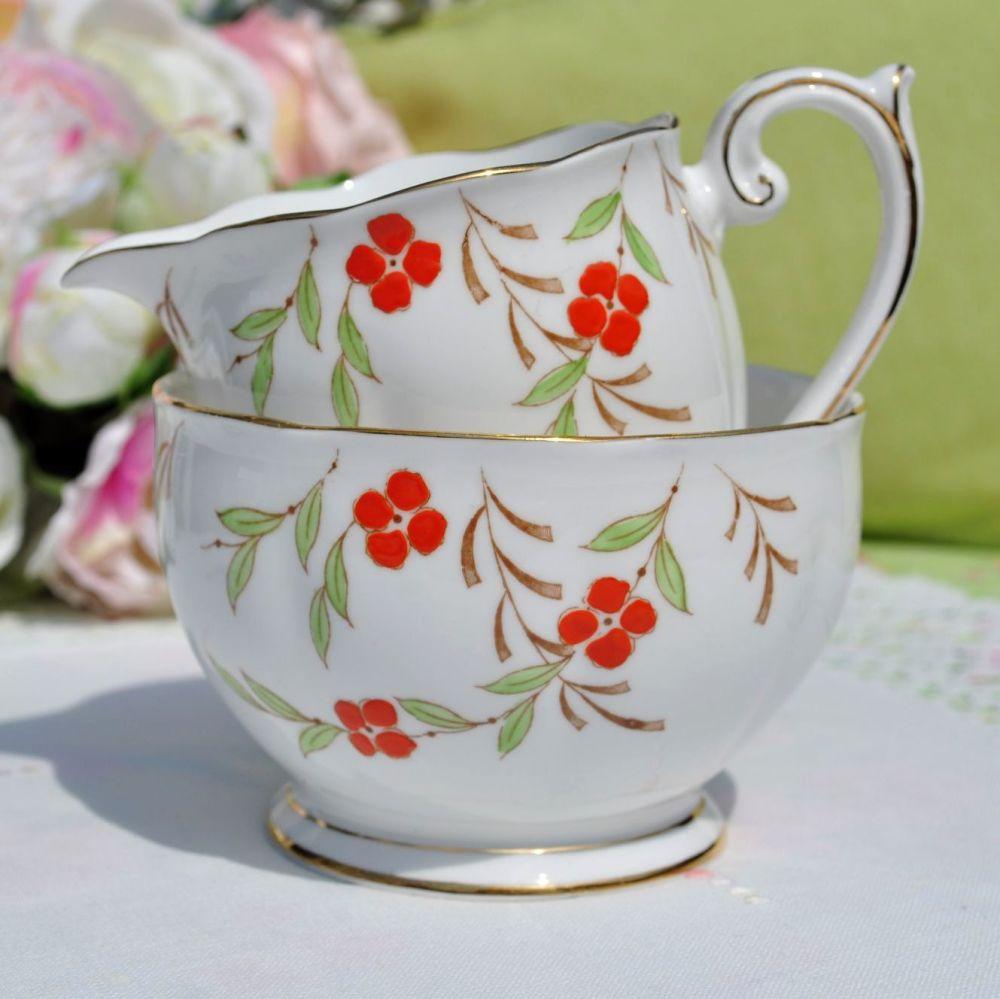 Queen Anne  Milk Jug and Sugar Bowl