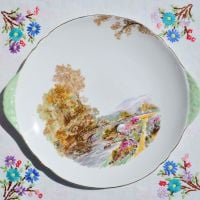 Shelley Heather Pattern Cake Plate c.1940s