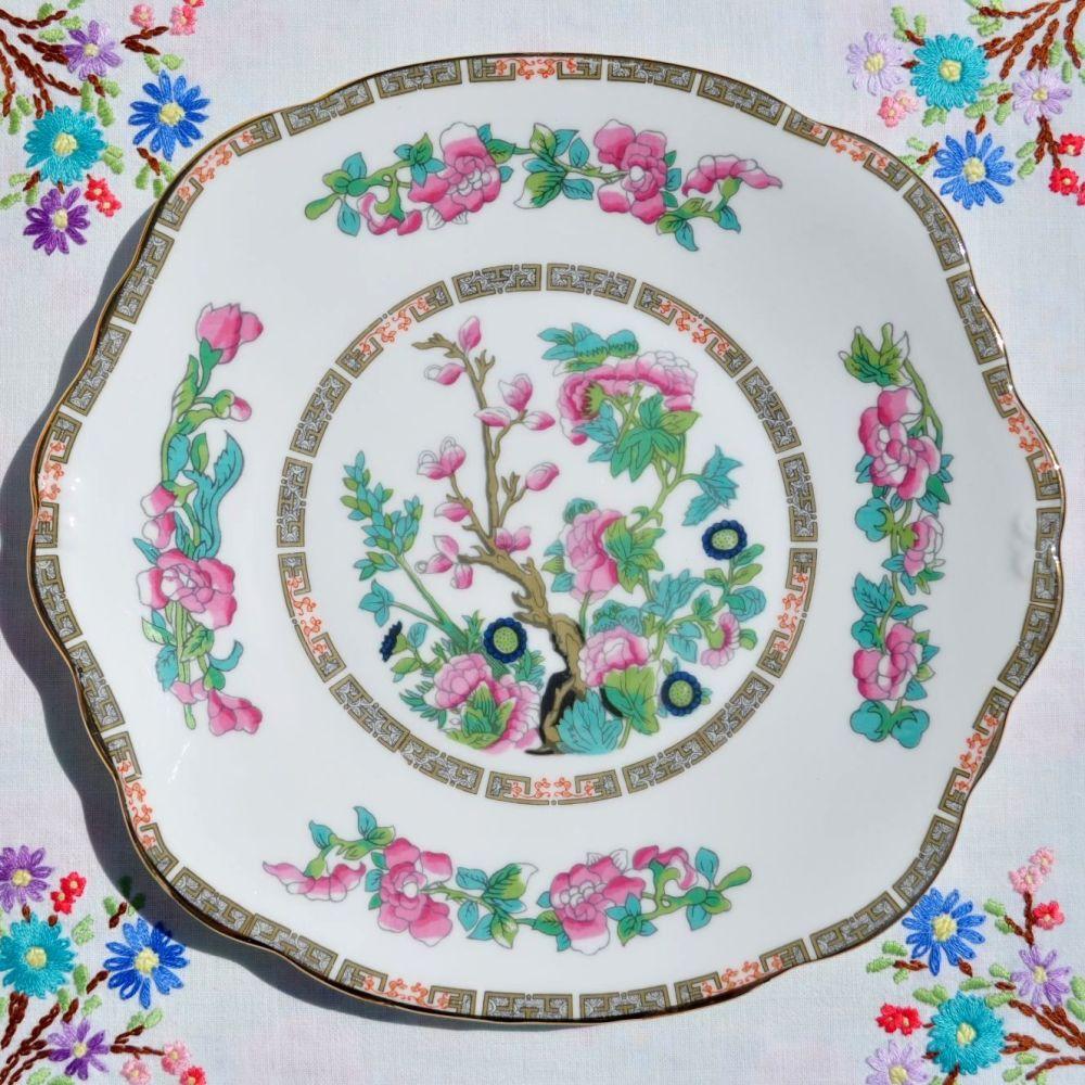 Duchess Indian Tree Pattern Vintage Bone China Cake Plate