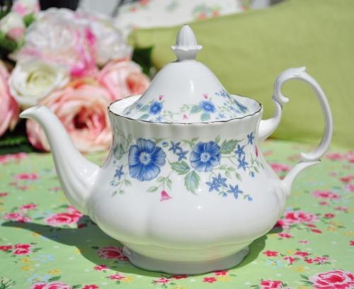 Royal Albert Meadowcroft Vintage China Teapot c.1990s