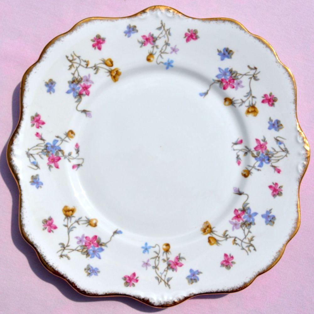 Royal Stafford Violets Pompadour Cake Plate c.1950s