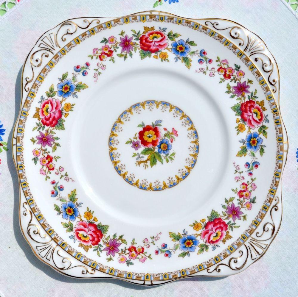 Royal Grafton Malvern Pattern Square Vintage Cake Plate