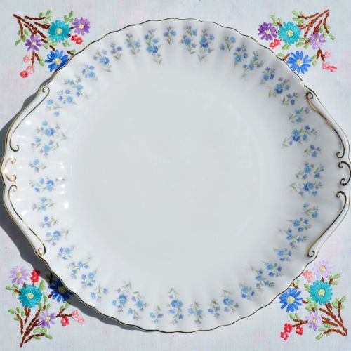 Royal Albert Memory Lane Bone China Cake Plate