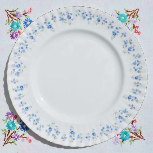 Royal Albert Memory Lane Bone China Dinner Plates Set of Six