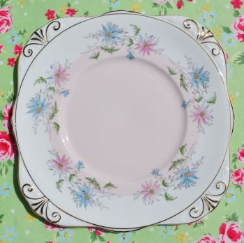 Royal Grafton Summer's Day Hand Painted Cake Plate c.1960s