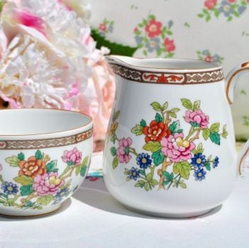 Coalport Flower Of Tibet Milk Jug and Sugar Bowl