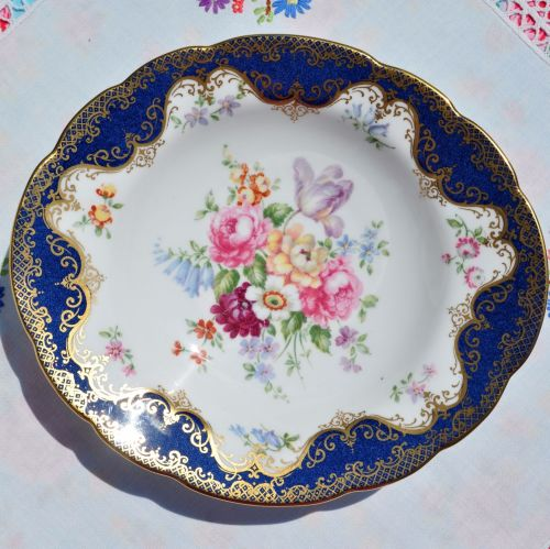 Crown Staffordshire Floral China Biscuit Tray or Bonbon Dish