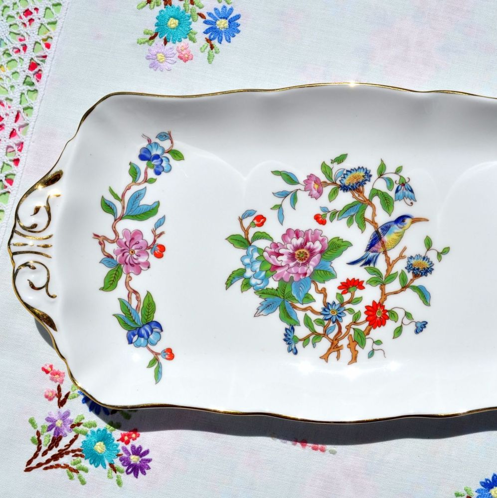Aynsley Pembroke Pattern Fine Bone China Sandwich Tray