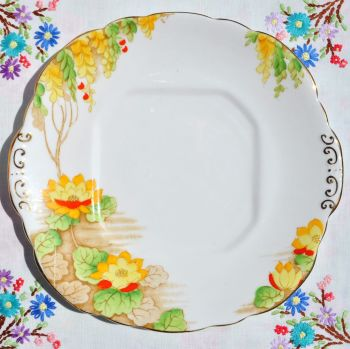 Antique Taylor and Kent Water Lily Cake Plate c.1912+