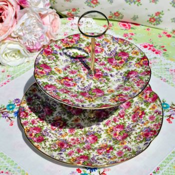 House of Claridge Collectors Edition Chintz 2 Tier
