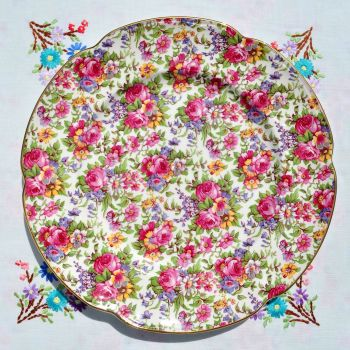 House of Claridge Collectors Edition Chintz 27cm Plate