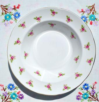 Duchess Fragrance Pink Roses Pattern Soup Bowls Set