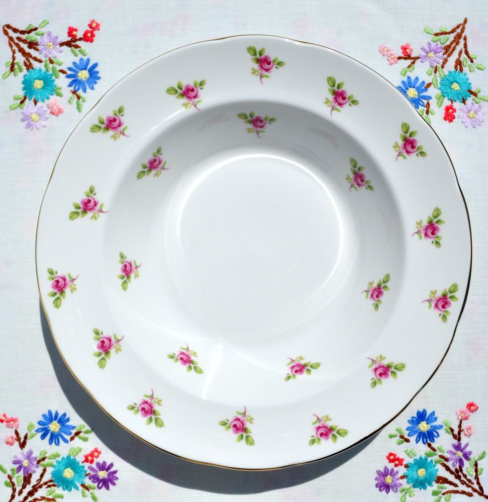 Duchess Fragrance Pink Roses Pattern Soup Bowls Set