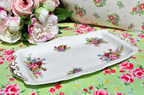 Royal Albert Chelsea Garden Sandwich Tray c.1970s