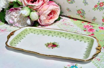 Royal Albert Old Country Roses Green Sandwich Tray