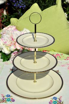 Minton St.James Pattern Bone China 3 Tier Cake Stand
