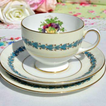 Wedgwood Appledore Vintage China Teacup Trio c.1960s