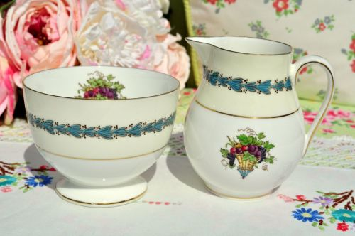 Wedgwood Appledore Milk Jug & Sugar Bowl c.1960s