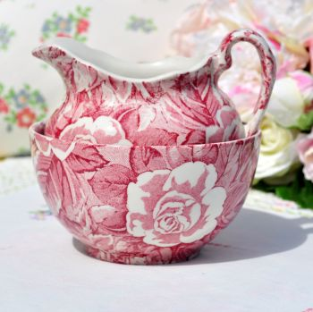 Burleigh Ware Victorian Chintz Milk Jug and Sugar Bowl