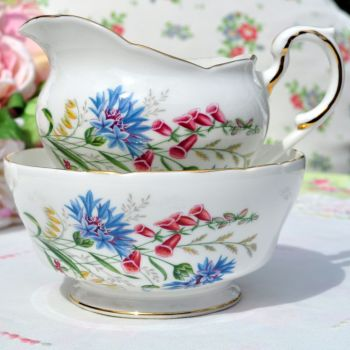 Paragon China Vintage Milk Jug and Sugar Bowl