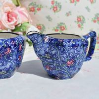Ringtons Blue Chintz Milk Jug and Sugar Bowl