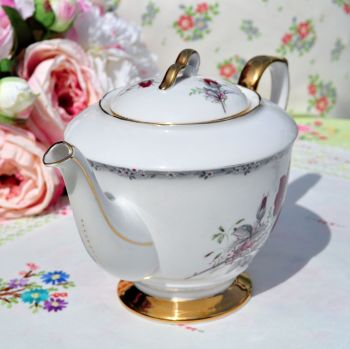 Royal Stafford Roses to Remember Bone China Vintage Teapot c.1950's