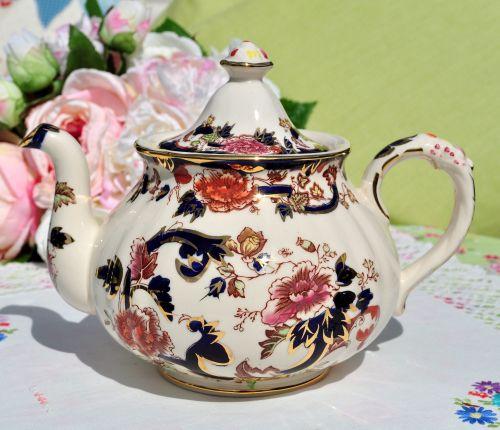 Mason's Mandalay Blue Vintage 2.25 Pint Teapot c.1969-98