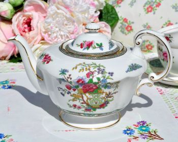 Paragon Tree of Kashmir Fine China Large Teapot C.1950s