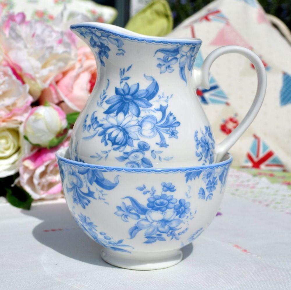 Whittard of Chelsea Earl Grey Pattern Milk Jug and Sugar Bowl
