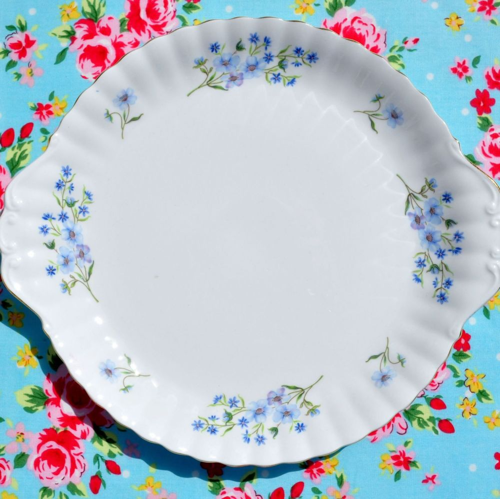 Richmond Blue Rock Vintage Bone China Cake Plate
