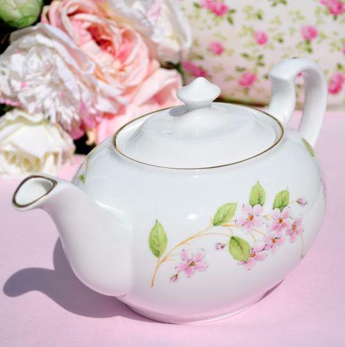 Aynsley Cherry Blossom 2 Pint Teapot