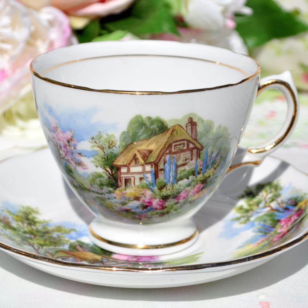 Royal Vale Homestead Pattern Teacup and Saucer c.1950s
