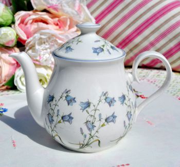 Elizabethan Moorland Harebell Pattern One Pint China Teapot