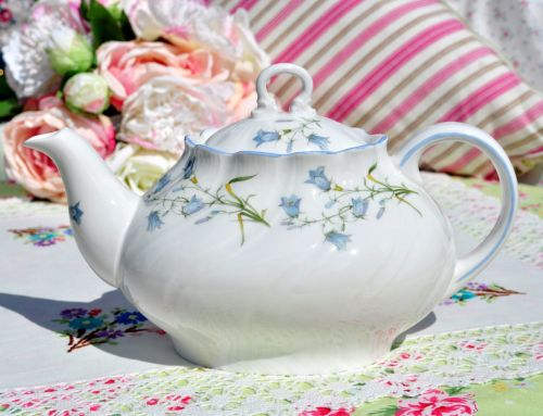 Queen's Rosina China Harebell Fine Bone China Teapot