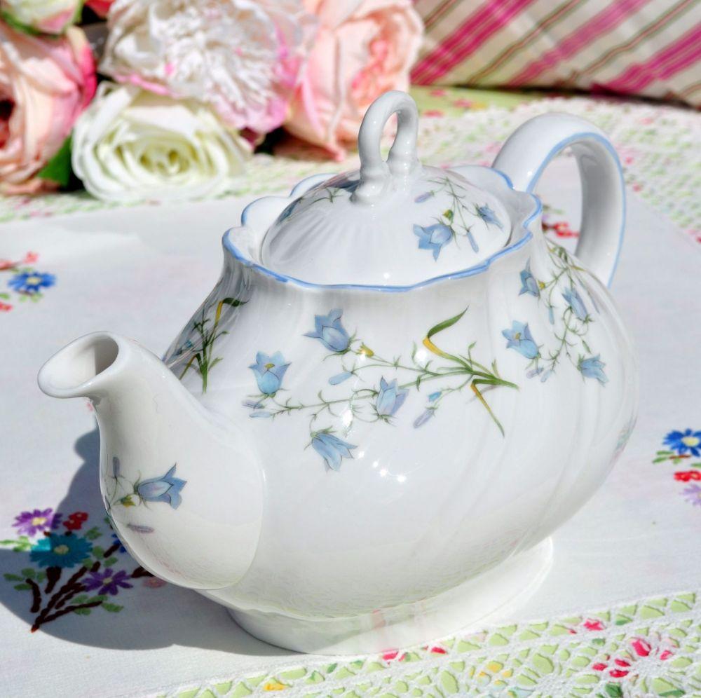 Beautiful blue harebell pattern bone china teapot